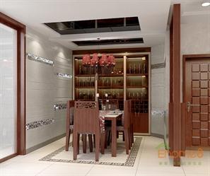 在水一方72㎡两房一厅中式风格装修效果图