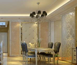 兆安现代城98㎡三房一厅欧式贵族风格装修效果图
