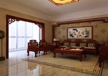 阳光100 68㎡两房一厅中式原木风格装修效果图