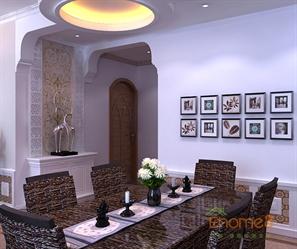 兆安现代城78㎡两房一厅地中海北非风格装修效果图