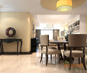 95㎡三房一厅美式风格餐厅装修效果图