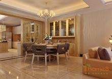 阳光100 99㎡三房一厅现代中式风格装修效果图