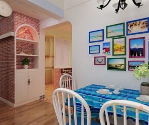 阳光100-73㎡两房一厅-地中海风格装修设计