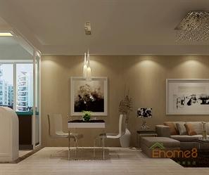 碧园大城小院95㎡三房一厅法式风格装修效果图