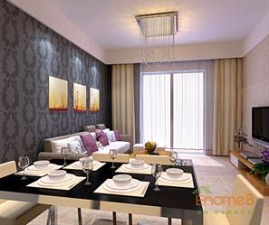 阳光100 75㎡两房一厅现代简约风格客厅装修效果图