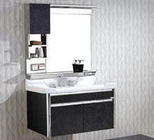凯美乐浴室柜  不锈钢落地浴室柜洗漱台洗脸盆卫浴柜组合