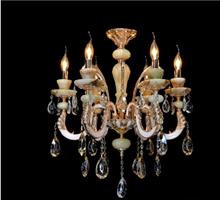 时代灯饰欧式8头复古蜡烛灯白玉水晶灯客厅灯卧室灯餐厅灯具灯饰
