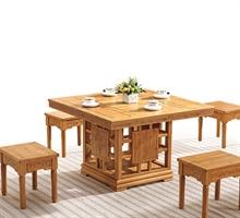 竹高方形泡茶桌