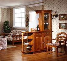 柏木之家   全实木家具 纯柏木现代间厅柜酒柜组合