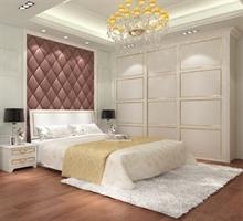 伊特莱健康衣柜 白金汉宫衣柜 A69暖白平板+金色装饰线