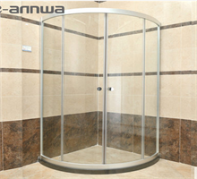 安华卫浴  弧型淋浴房简易房含石基钢化玻璃隔断(限五套)