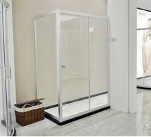 正品安华卫浴anL036淋浴房屏石基钢化玻璃隔断(限五套)