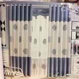 从浩布艺 传统中式布料窗帘  艺术杆(不含帘头)