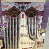 从浩布艺 传统中式纱料窗帘  艺术杆(不含帘头)