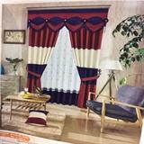 从浩布艺 现代素色布布料窗帘   艺术杆(不含帘头)