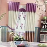 爆款-从浩布艺 现代素色布料窗帘 艺术杆(不含帘头)