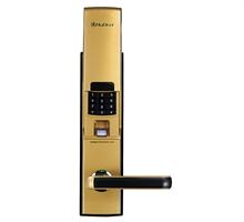 汇泰龙 HZ-69001智臻指纹密码锁 琥珀金 / 泰坦银