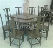 雅室红木  圆台餐桌(8+1)