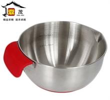 加厚加深不锈钢防滑打蛋盆 硅胶防滑色拉盆 沙拉碗