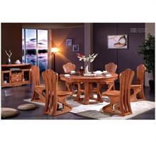 南粤名品 花梨木现代中式6人餐桌椅组合