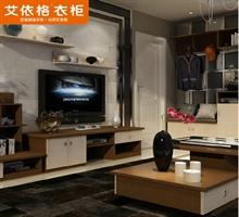 艾依格 现代简约组合电视柜壁挂储物柜茶几套装家具