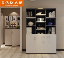 艾依格 新款现代简约书柜 书橱收纳储物柜家具