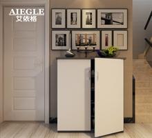 艾依格 现代简约客厅对开门防尘收纳鞋柜储物柜组装