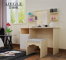 艾依格 简约小户型卧室梳妆桌首饰柜 梳妆台妆凳组合