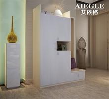 艾依格 多功能大容量收纳鞋柜 穿衣镜换鞋凳门厅柜 组合