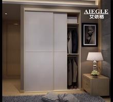 艾依格时尚卧室家具 现代简约移门衣柜 储物柜 可入墙式衣橱