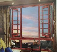 美萨 138精钢纱网护栏安全外平开窗