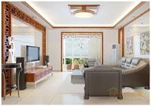北大阳光中式风格原木客厅装修图片