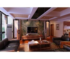 原木装饰客厅装修图片