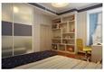 美式风格蓝色格调男孩房装修效果图