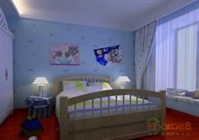 淡雅卡通儿童房装修设计