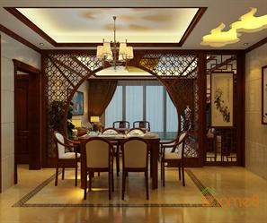 中式风格餐厅餐桌装潢设计