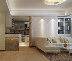 85㎡两房一厅小清新风格装修装潢