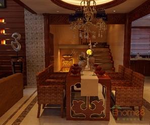 贵族式餐厅巴洛克风格装饰图