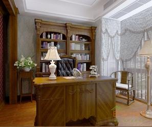 两房一厅-简欧书房装修效果