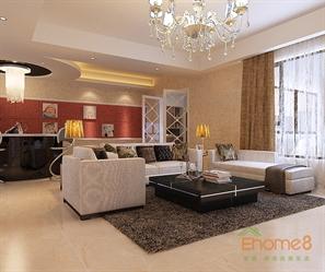后现代风格复式客厅装修设计效果图