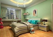 小清新装修风格儿童房装饰图