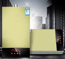 柳钢人工煤气土豪金恒温强排燃气热水器12L天然气  液化气