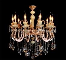 时代灯饰 欧式复古蜡烛灯白玉水晶灯客厅灯卧室灯餐厅灯具灯饰