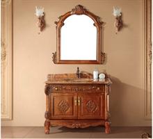 复古  稳重   心海伽蓝品牌浴室柜
