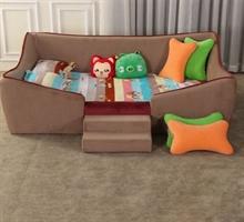 朝安家具 S2-3019 1.2米布艺儿童床