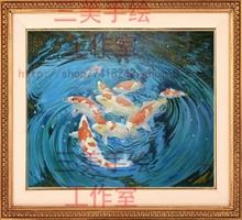 定制 三美纯手绘山水风景油画古典欧美式手工客厅风水装饰画