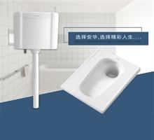 安华卫浴蹲便器带水箱存水弯 浴室防臭大便器蹲坑(限10套)