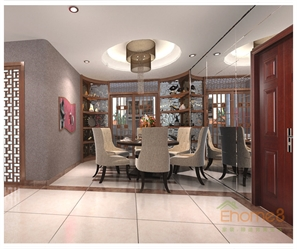 两房一厅灰色空间厨房效果图