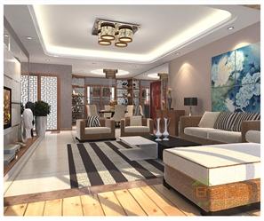 2房1厅灰色风格客厅效果图