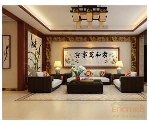 两房一厅中式装修效果图